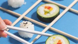 Cucumber maki rounds