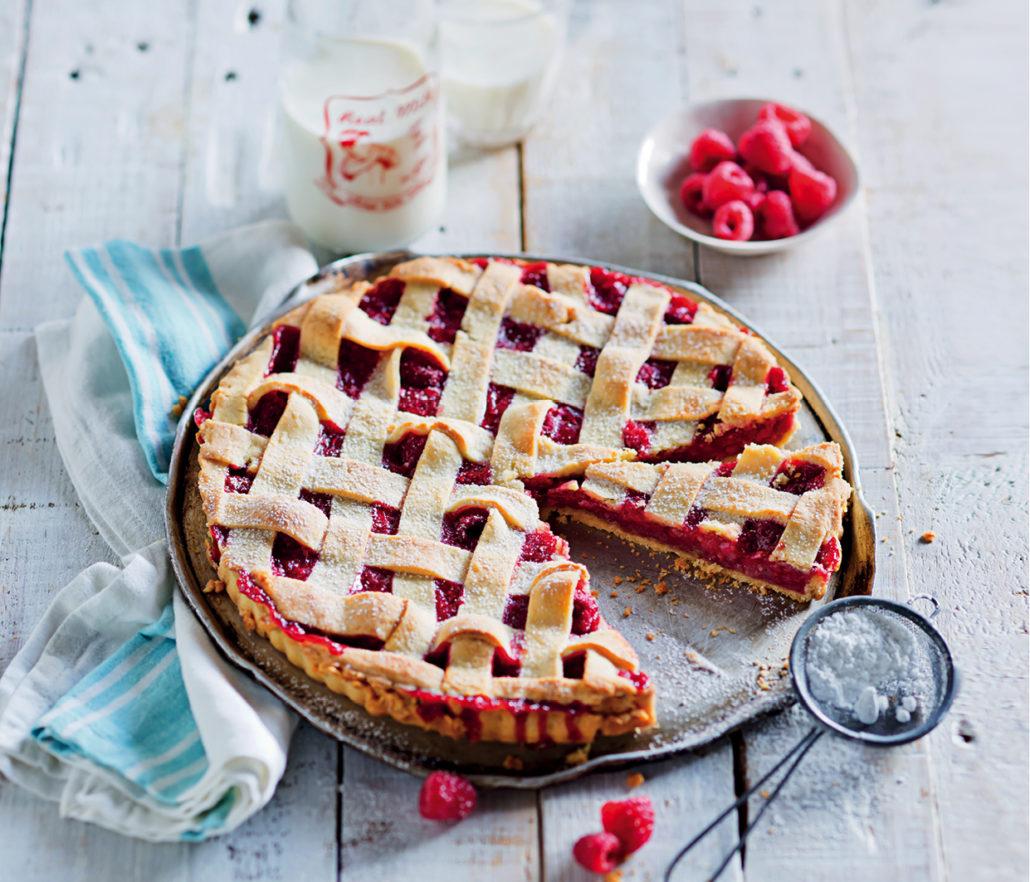 Raspberry lattice tart