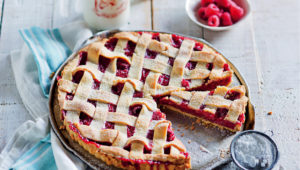 Raspberry lattice tart