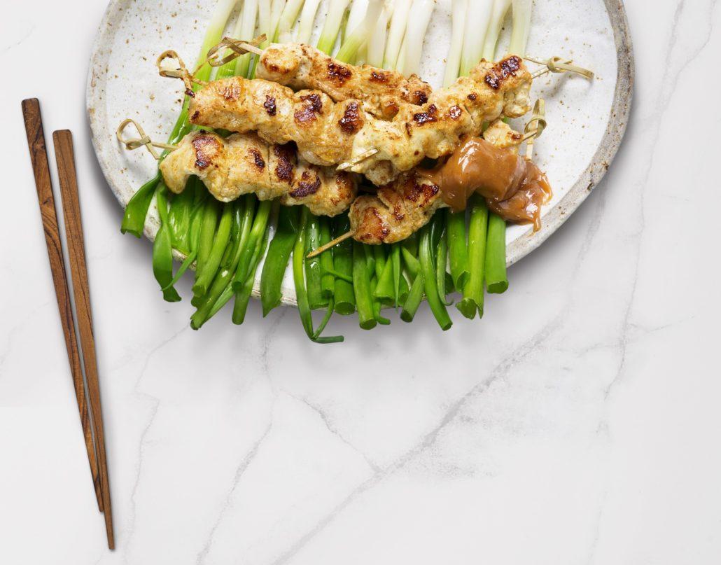 Chicken satay kebabs