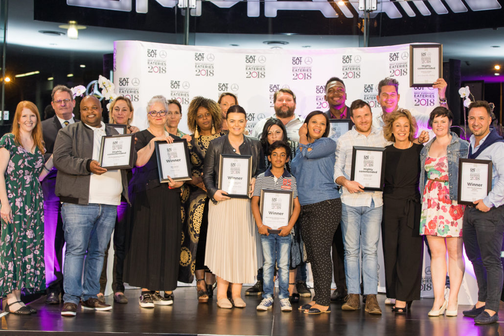 The full winner's list from The 2018 Eat Out Mercedes-Benz Best Everyday Eateries Awards