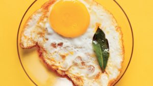 Curried fried eggs