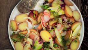 Potato salad with anchovy dressing