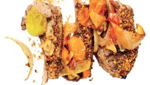 Sumac chops with fire-roasted chakalaka