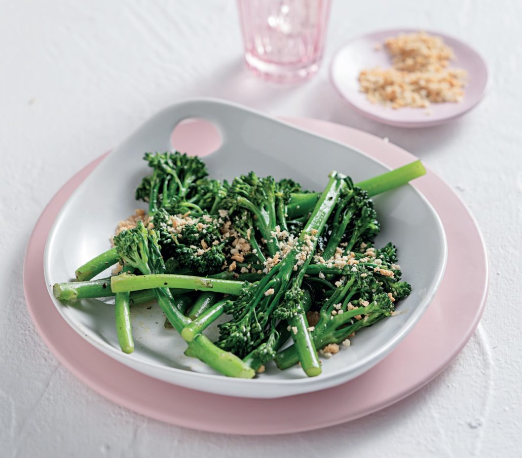 White wine braised tenderstem broccoli