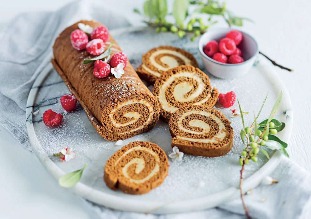 Gingerbread Swiss roll