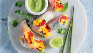 Tropical spring rolls