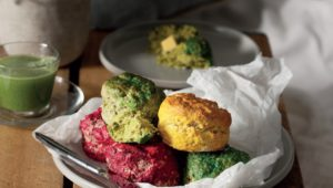 Naturally dyed scones