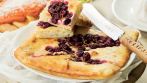 Tuscan focaccia with grapes