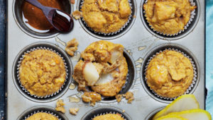Low GI pear & pumpkin breakfast muffins