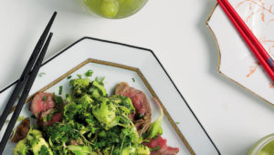 Thai beef with avo chimichurri
