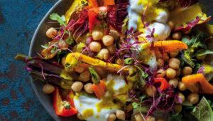 Tumeric-tahini chickpea salad