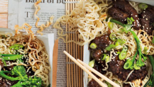 Healthy beef chow mein