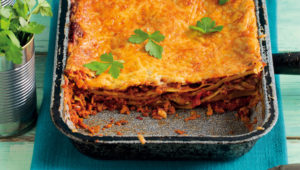 Hearty corned beef lasagne