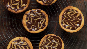 Delicious dark chocolate and peanut butter tartlets