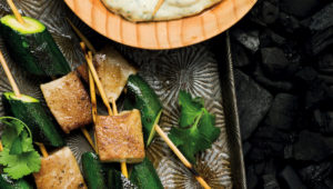 Yellowtail kebabs