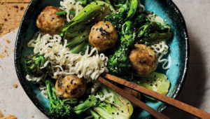 Ginger and chicken meatballs