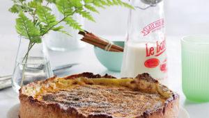 Hot cross bun milk tart
