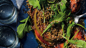 lentil and pumpkin salad