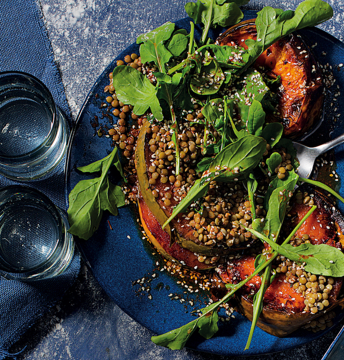 lentil and pumpkin salad
