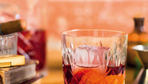 Rum and citrus cocktails with Campari bitters