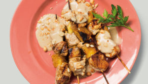 Chicken and pineapple satay