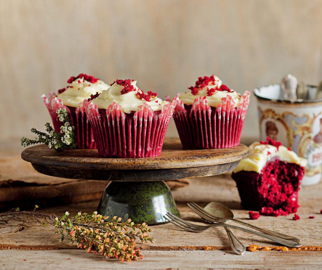 Classic red velvet cupcakes