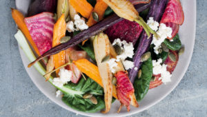 Colourful roast vegetable salad