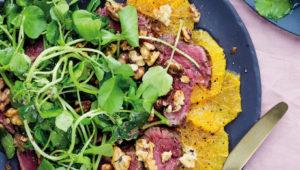 Harissa beef salad