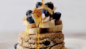 Oat and banana English muffins