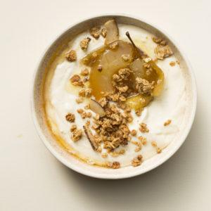 Roast apple yoghurt