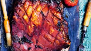 Spicy pork belly roast