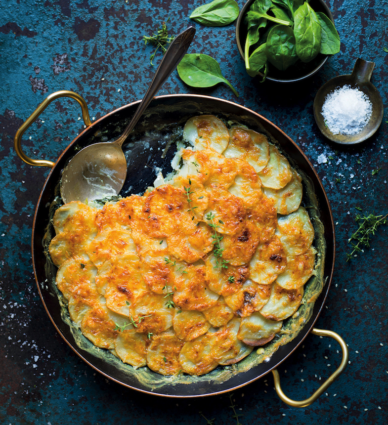 Keep it light and fresh with this spinach and potato gratin