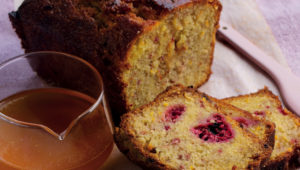 Raspberry and citrus loaf