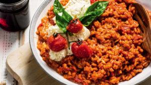 Roasted tomato risotto