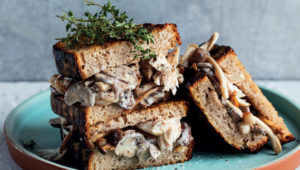 Chicken and mushroom sandwiches
