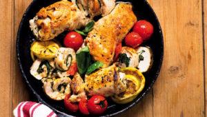 Chicken involtini with spinach