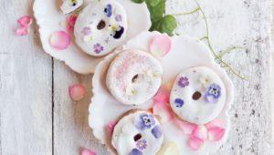 Floral doughnuts