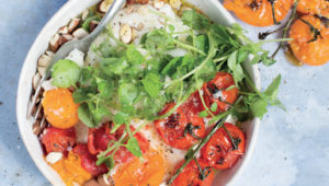Pap and tomato vegetable bowl
