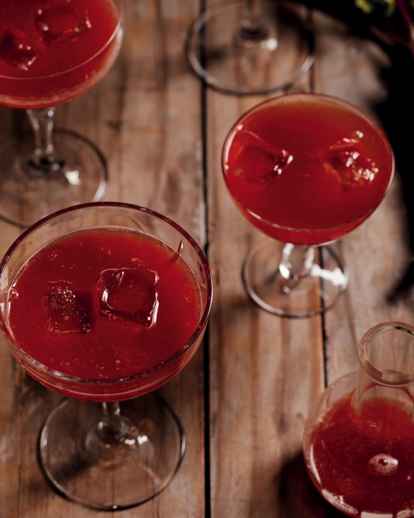 Watermelon, Earl Grey and vodka cocktails