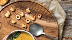 Alphabet croutons