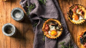 Baked egg tartlets