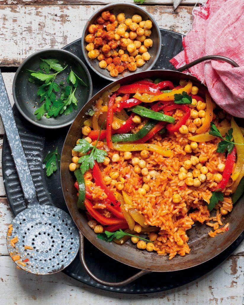 Mixed veggie paella