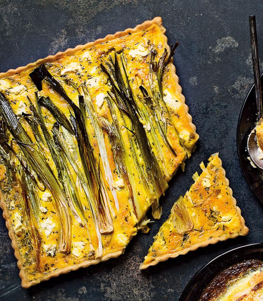 Savoury leek tart with Dijon mustard