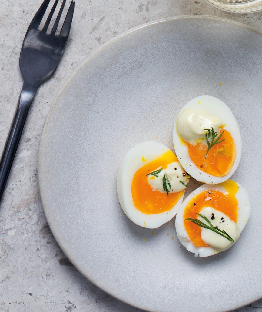 Mustard boiled eggs