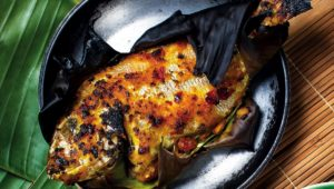 Grilled fish with sambal