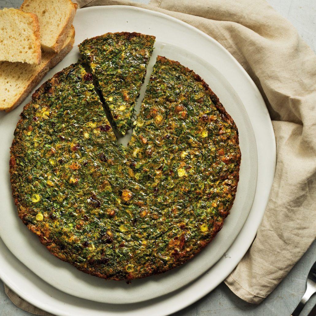 Persian baked omelette