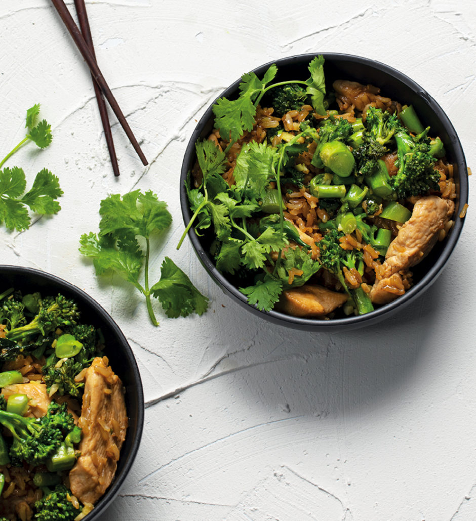 Signature chicken, broccoli and rice
