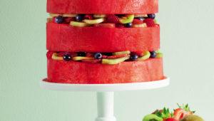 Layered watermelon cake