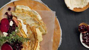 Rosemary pancakes